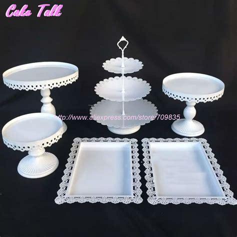Rak Cupcake aliexpress buy white wedding cake accessory stand set 6 pieces cupcake stand decorating
