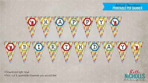elmo happy birthday banner printable elmo happy birthday pennant banner sesame street party
