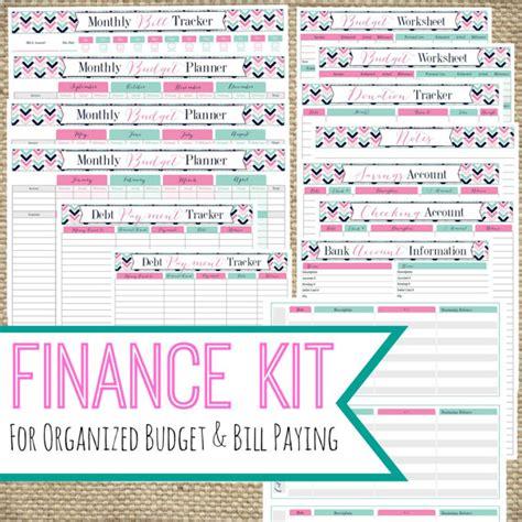 Printable Finance Organizer | printable finance kit instant download pdf bill pay