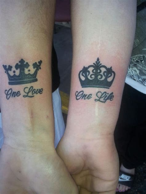 his and hers wrist tattoos his and mcnabbs artist