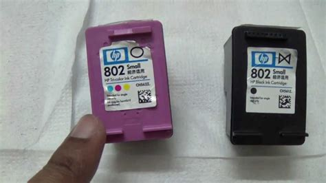 Cartridge Hp 802 Color how to refill hp 802 cartridge at home part i