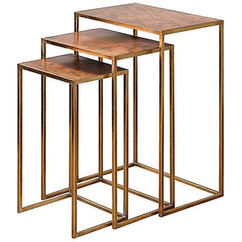 nesting accent tables buy uttermost osmund metal nesting accent tables set of 3