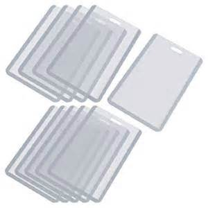 plastic sleeves for business cards vertical business id badge card holder 10