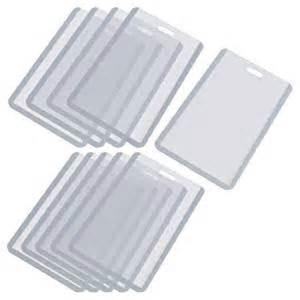 business card holder plastic sleeves vertical business id badge card holder 10