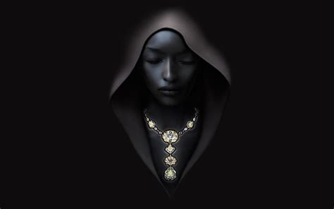 wallpaper black woman a girl in a hood on a black background wallpapers and