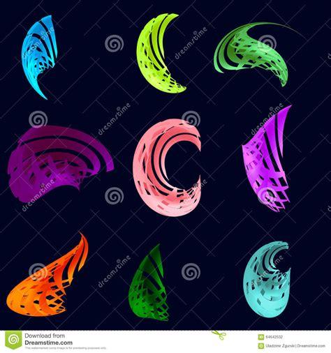 imagenes abstractas tridimensionales sistema de figuras tridimensionales abstractas stock de