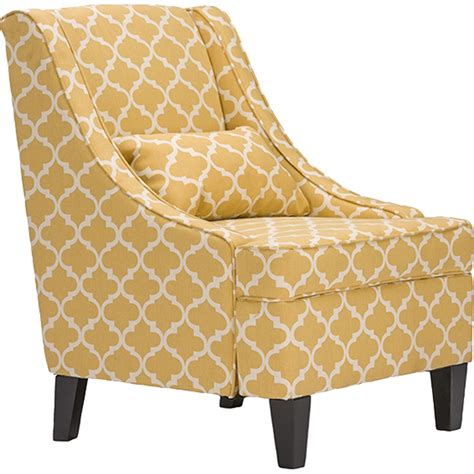 Yellow Patterned Armchair by Lotus Yellow Patterned Armchair Yellow Dcg Stores
