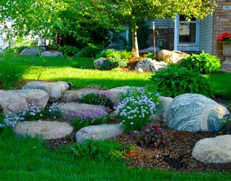 naturalistic outcroppings rock gardens boulder images