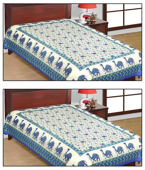 buy bed sheets shop rajasthan sanganeri print single cotton bed sheet