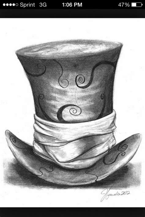 cheshire cat with hat tattoo design