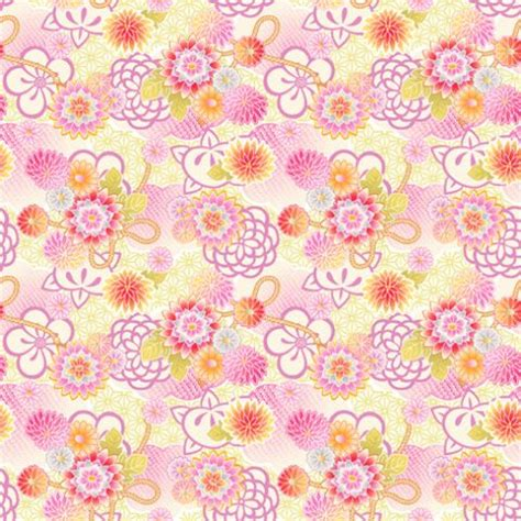 kimono pattern pixiv フリー素材 レトロ和柄パターン 賽河まだら盲目花 のイラスト pixiv pyladies tokyo