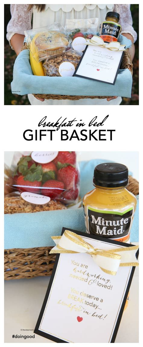 breakfast gift basket breakfast in bed gift basket idea and printables