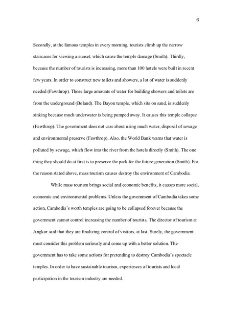 Positive And Negative Aspects Of Tourism Essay by Tourism And Environment Essay