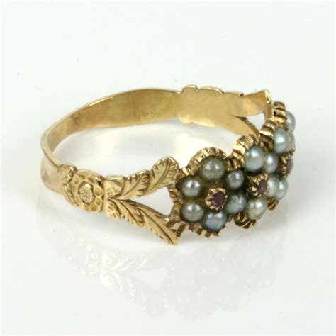 buy antique georgian era pearl ruby ring sold items