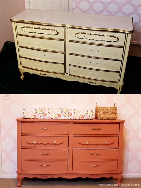 Chalk Paint On Dresser by Nursery Sloan Chalk Paint Coral Dresser Makeover