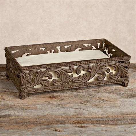 guest towel holder for bathroom gg collection metal scroll style guest towel holder