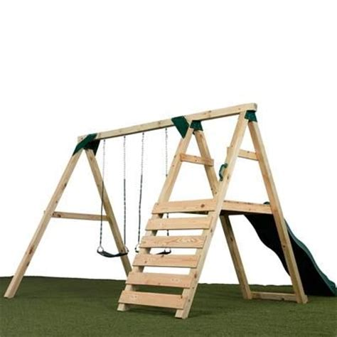 build a frame swing set how to build your own swing set free plans woodworking