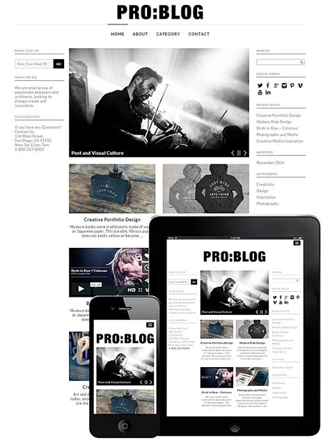 theme blog responsive wordpress dessign pro blog responsive wordpress theme v2 0 1