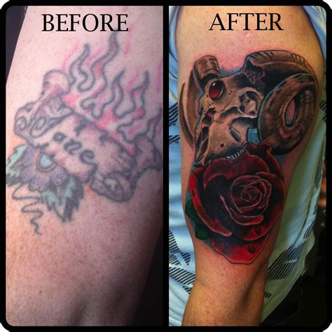 tattoo cover up before and after this is a before and after photo of a cover up i