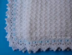 little clouds baby blanket free crochet pattern