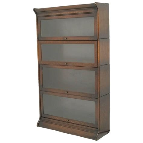 Oak Barrister Bookcase american oak stacking lawyer or barrister bookcase at 1stdibs