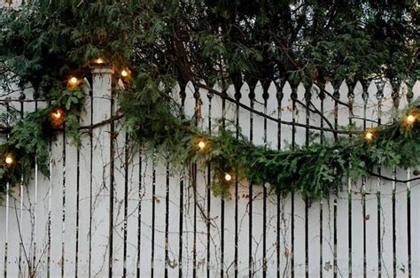 outside garland with lights fresh green garland with lights outside