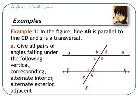 Math 7 geometry 04 angles, parallel lines, and ... Line Geometry Example