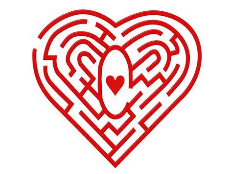 printable heart maze heart maze computer artwork photograph by pasieka