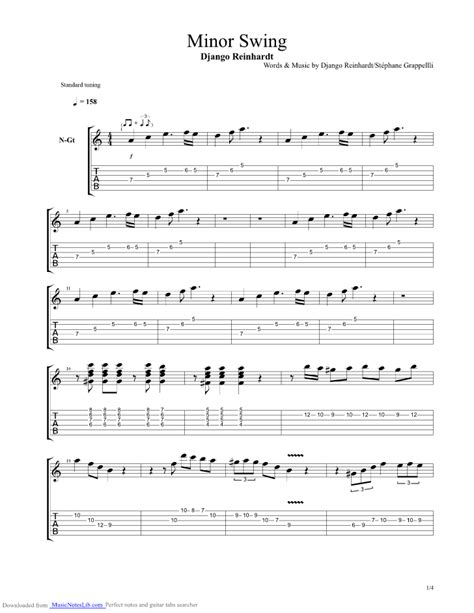 Django Reinhardt Minor Swing Tabs by Django Reinhardt Minor Swing Tab Pdf