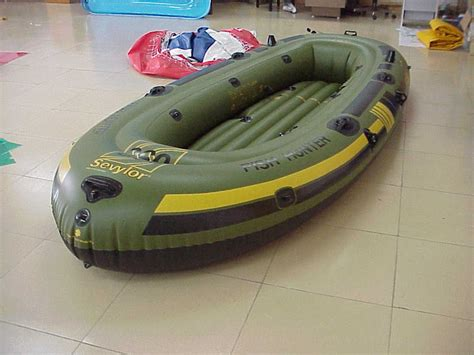 6 person inflatable boat with motor mount hf360 six person sevylor inflatable boat kayak dinghy id