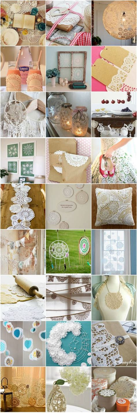 doily craft projects doily inspiration d i y craft projects