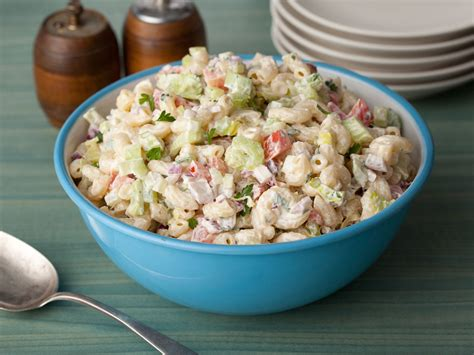 macaroni salad american macaroni salad recipe food network kitchen