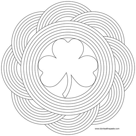 rainbow mandala coloring pages don t eat the paste simple shamrock and rainbow mandala
