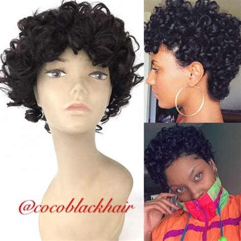 curly hairstyles machine carla no lace wig machine made human hair wig short curly