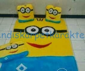 Karpet Karakter Empuk karakter minion karpet rasfur murah endis karpet
