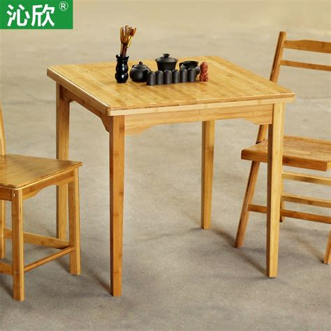 Small Wooden Dining Tables Qin Yan Bamboo Large Square Table Wood Dining Table Minimalist Modern Home Fashion Simple Four