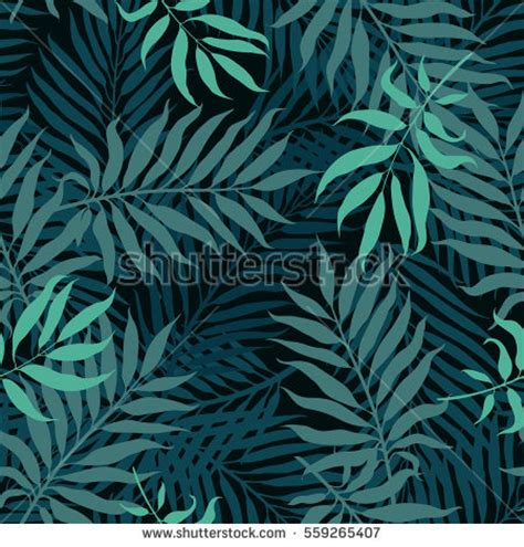 abstract tree pattern abstract vector seamless pattern with decorative palm tree