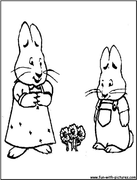 max and ruby coloring pages free printable colouring