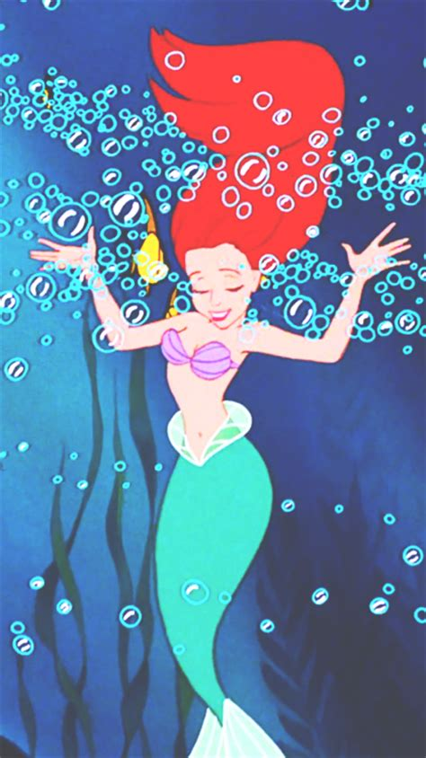Ariel The Little Mermaid Tumblr Wallpaper Pixshark Iphone Wallpapersafari