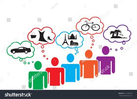 consumer pattern en francais consumer needs wants stock vector 112302047 shutterstock
