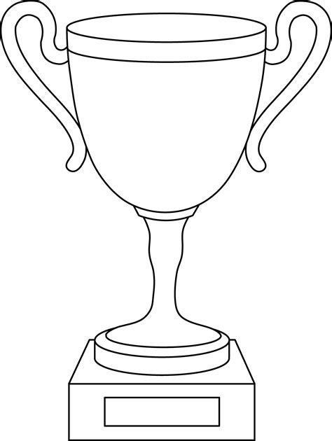 Trophy Cup Line Art Free Clip Art Trophy Website Template