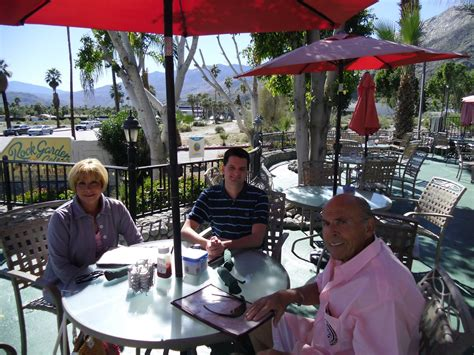 Rock Garden Cafe Palm Springs Sidelong Glances Of A Pigeon Kicker Lunch With Reason