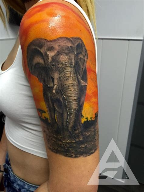 elephant link tattoo 15 elephant tattoos behind the ear