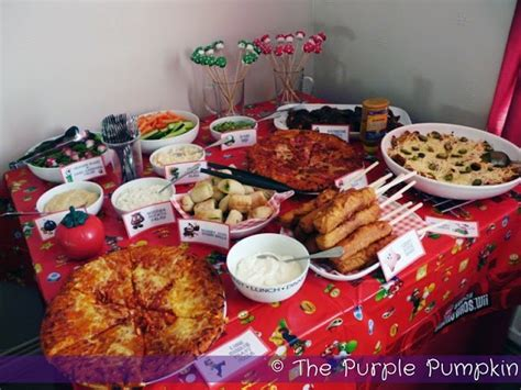 themed party k food for a nintendo themed birthday party
