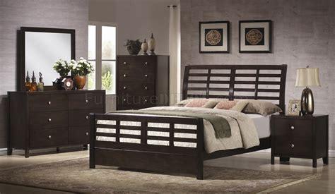 brown modern bedroom rich dark brown finish modern bedroom w optional casegoods