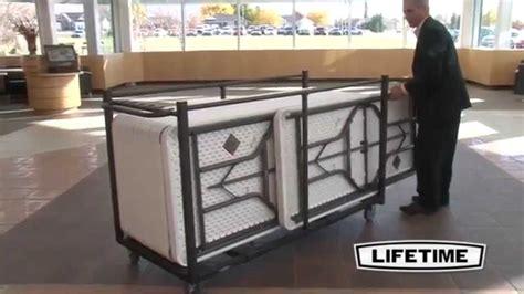 folding table garage storage lifetime table cart 80193 folding table storage truck