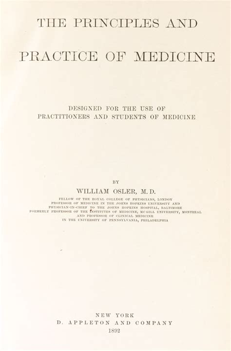 the principles and practice of medicine designed for the use of practitioners and students of medicine classic reprint books archiv 201 e sir william osler m 233 decins canadiens c 233 l 232 bres