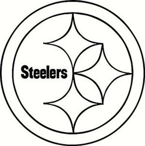 nfl steelers coloring pages pittsburgh steelers logo google search silhouette