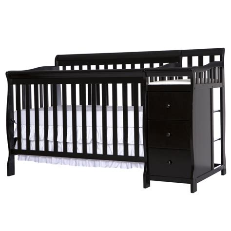 Mini Crib With Attached Changing Table Mini Crib With Attached Changing Table On Me 2 In 1 Size Crib And Changing Table Combo White