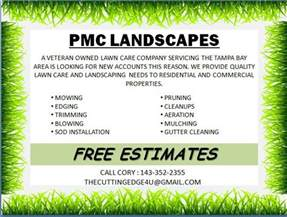 Landscape Templates by Free Landscaping Flyer Templates To Power Lawn Care